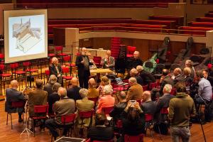 Presentatie door Peter van Dijk over het ontwerp van een nieuw orgel voor TivoliVredenburg