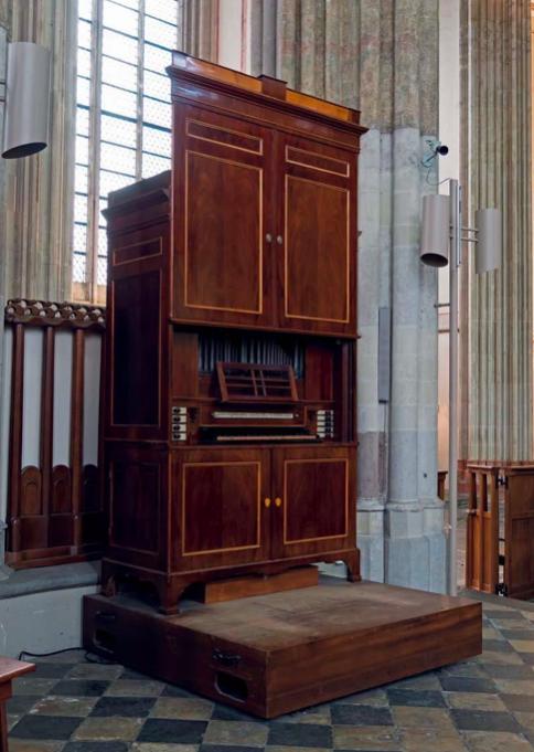 Het kabinetorgel van G.Th. Bätz in de Domkerk, Utrecht.  Foto: Jan Smelik